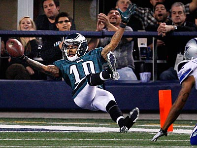 "DeSean Jackson said, ""I could care less about who likes it and who doesn´t,"" on his backwards dive. (Ron Cortes/Staff Photographer)"