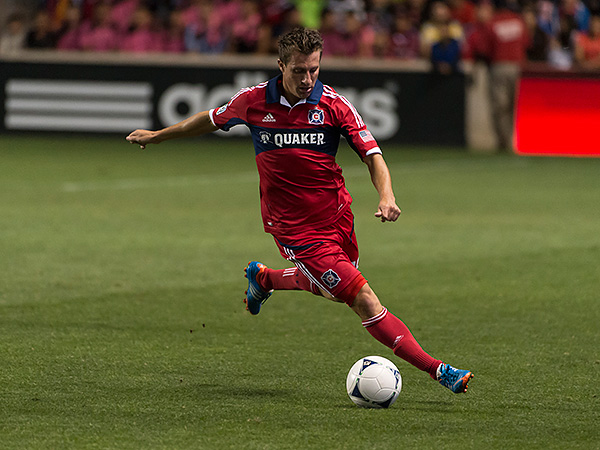 The Union acquired Chicago Fire midfielder Corben Bone in the first stage of the MLS Re-Entry Draft. (Brian Kersey/Chicago Fire)
