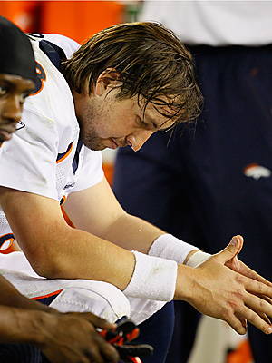 Broncos quarterback Kyle Orton found himself on our list of busts for the second week in a row. (AP Photo/Rick Scuteri)