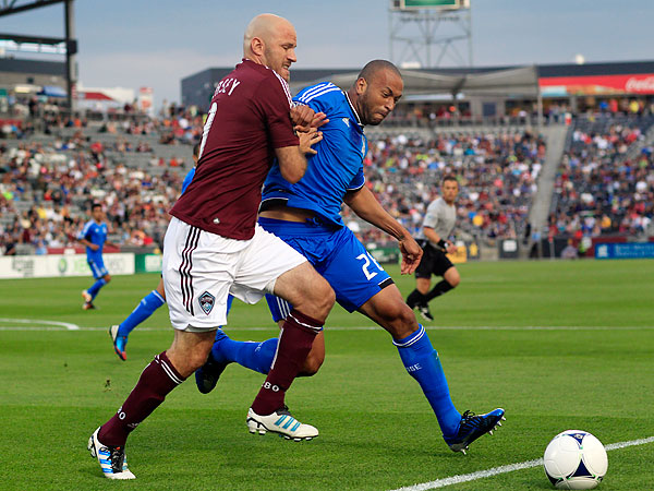 If he stays healthy, Conor Casey (left) will bring much-needed size and power to the Union´s attack. (AP file photo)