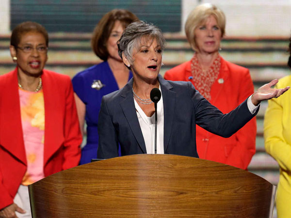 U.S. Rep. Allyson Schwartz (D., Pa.) addresses the 2012 Democratic National Convention. (J. Scott Applewhite / Associated Press)
