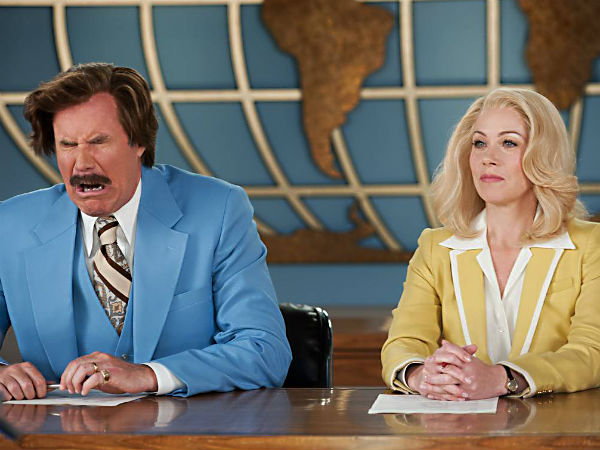 Ron Burgundy (played by Will Ferrell) finds himself in another glass case of emotion with co-anchor, and co-person, Veronica Corningston (Christina Applegate).