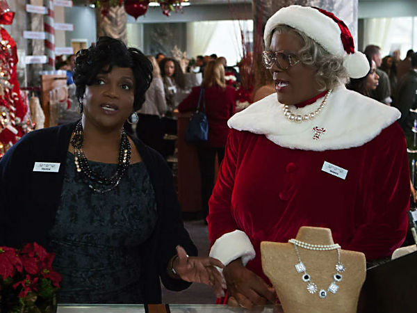 "Tyler Perry, right, stars in ""Tyler Perry´s A Madea Christmas"" with Anna Maria Horsford, who plays niece Eileen."