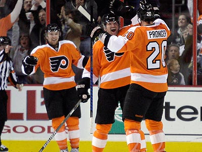 Flyers End Penguins' Winning Streak
