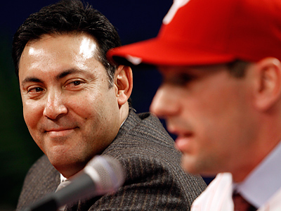 Phillies GM Ruben Amaro Jr. introduced Cliff Lee at a press conference last week. (Laurence Kesterson / Staff Photographer)