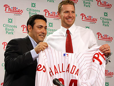 Roy Halladay was officially introduced as the newest Phillie Wednesday afternoon at Citizens Bank Park. (Steven M. Falk/Staff Photographer)
