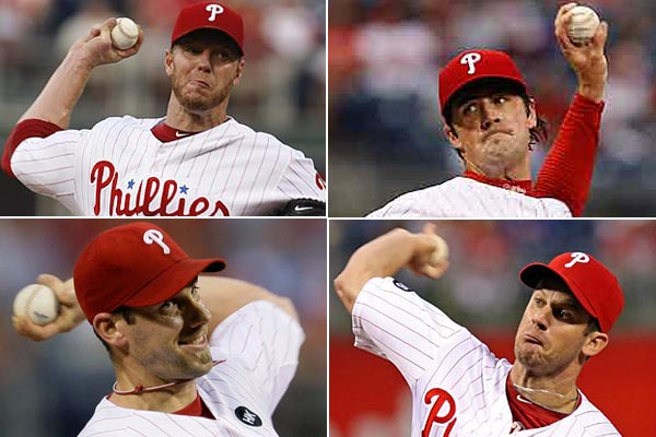 The Phillies could have one of the all-time greatest starting rotations in 2011. (Staff and AP Photos)
