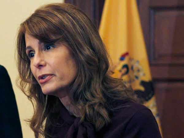 Barbara Buono is running for governor of New Jersey. (Mel Evans / AP)