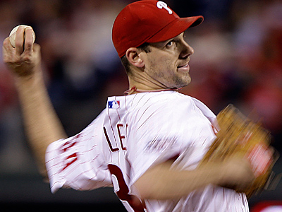 Cliff Lee struggled to sound enthused in a conference call introducing him as a member of the Seattle Mariners. (AP Photo/Matt Slocum, File)
