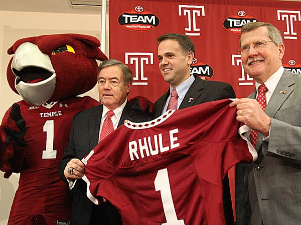 Temple athletic director Bill Bradshaw is learning that Matt Rhule is a pretty popular coach. (Charles Fox/Staff Photographer)