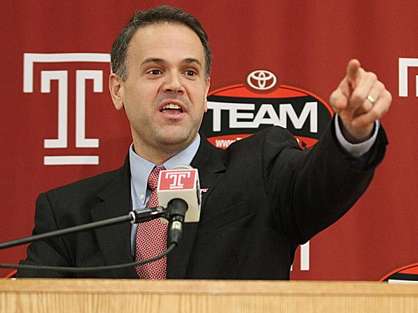 Temple football coach Matt Rhule. (Charles Fox/Staff Photographer)
