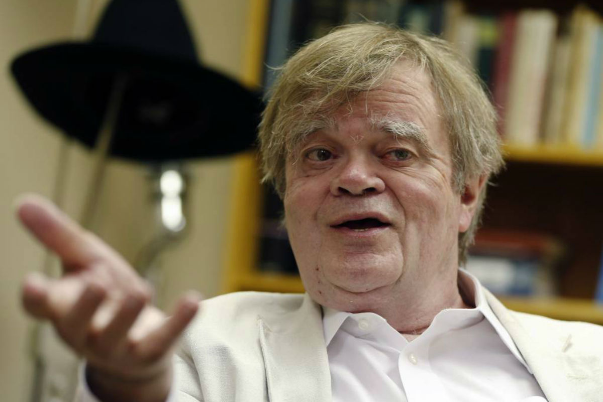 "FILE - In this July 20, 2015, file photo, Garrison Keillor, creator and host of ""A Prairie Home Companion,"" appears during an interview in St. Paul, Minn. ""A Prairie Home Companion"" has been given a new name — ""Live from Here"" — in the wake of Keillor´s acrimonious split with Minnesota Public Radio. Chris Thile, the mandolin virtuoso who has hosted the weekly variety show since Keillor´s retirement announced the new name Saturday, Dec. 16, 2017, as the show opened a live performance in New York City."