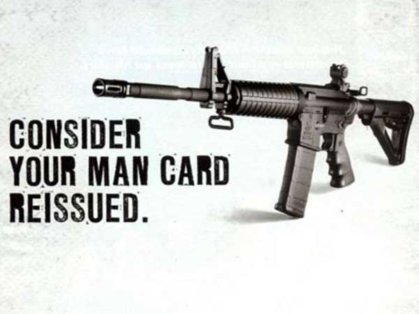 This is an ad for Bushmaster rifles, the weapon Adam Lanza used in the school massacre.