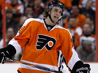 The Flyers look toBen Holmstrom help with penalty killing, faceoffs, and defense.  (AP Photo/Matt Slocum)