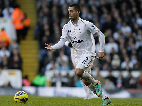 American star Clint Dempsey leads Tottenham Hotspur´s attack. (Alastair Grant/AP file photo)