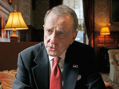 Arlen Specter in 2008. Specter was elected to the Senate in 1980 and had been a political fixture for decades before. (Elizabeth Robertson / Staff Photographer)