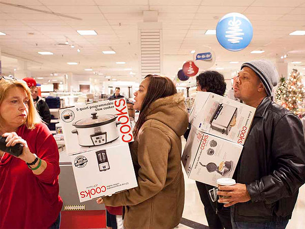 Last year, Black Friday shoppers crammed the Granite Run Mall in Media Pa. This year, the mall and many others in the area, will open on Thanksgiving. (File photo, Ed Hille / Staff Photographer)
