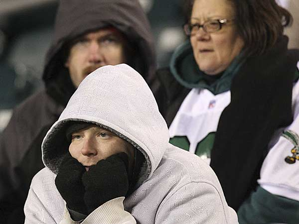 Eagles fans watch as their team losses to the Bengals 34-13 at Lincoln Financial Field in Philadelphia, Thursday, December 13, 2012. (Steven M. Falk/Staff Photographer)