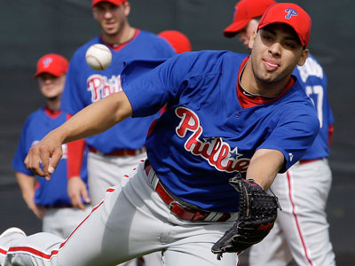 Righthander Jesus Sanchez signed a minor-league contract with Milwaukee. (AP File Photo/Eric Gay)