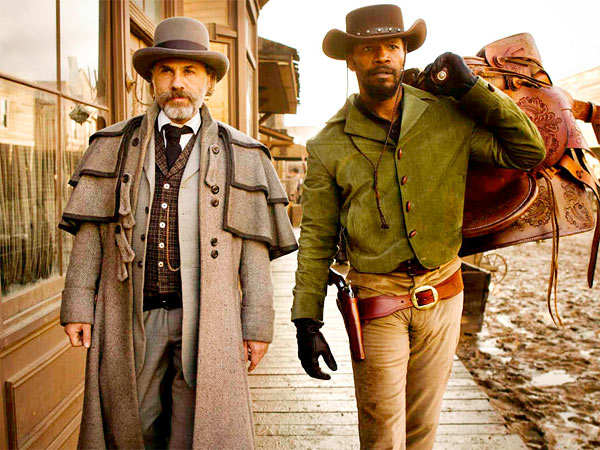 "Christoph Waltz and Jamie Foxx star in ""Django Unchained."""