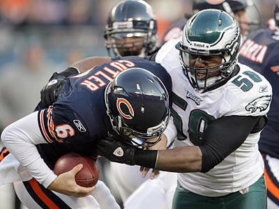 Trent Cole led the Eagles with 10 sacks last season. (Yong Kim/Staff file photo)
