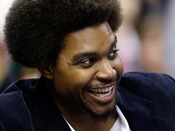 The Sixers´ Andrew Bynum. (Matt Slocum/AP file)