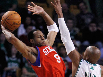 The Sixers battled but still fell to the streaking Celtics, 84-80.(AP Photo/Michael Dwyer)