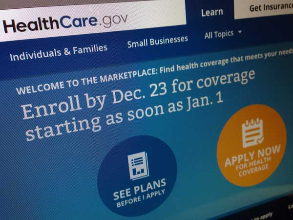 This image shows part of the HealthCare.gov website that notes to enroll by Dec. 23 for coverage starting as soon as Jan. 1, 2014. (AP Photo/Jon Elswick)