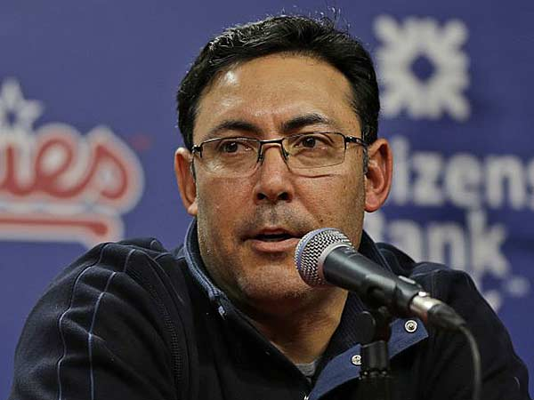Ruben Amaro Jr., speaks during a news conference Thursday, Dec. 20, 2012, in Philadelphia. (Matt Rourke/AP)