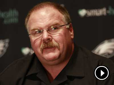Andy Reid says he hasn´t thought about if he was coming back next year or not. (David Swanson/ Staff Photographer)