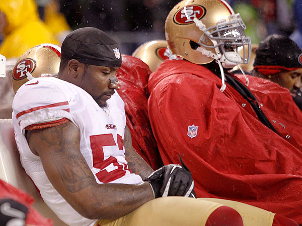 The 49ers dropped from No. 4 to No. 7 after they were hammered by the Seahawks, 42-13, on Festivus. (John Froschauer/AP)