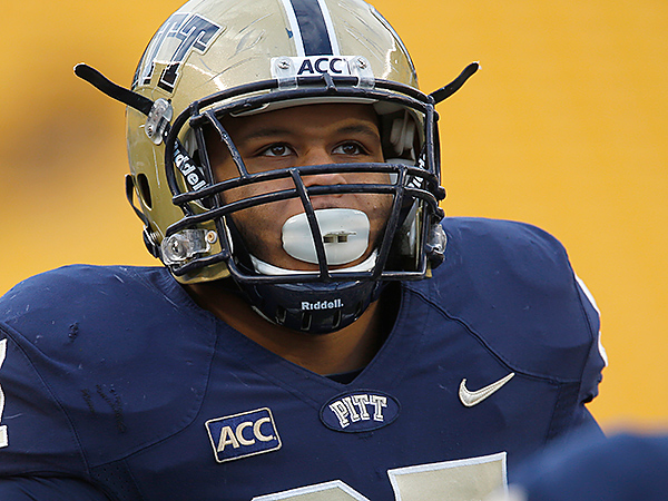 Pittsburgh defensive lineman Aaron Donald. (AP Photo/Keith Srakocic)