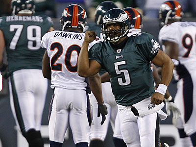 Donovan McNabb´s three touchdown passes have been to three different receivers. (David Maialetti/Staff Photographer)
