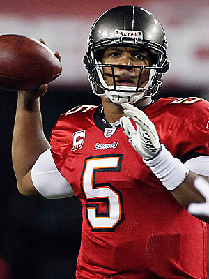 Josh Freeman was a fantasy stud in his win against the Seahawks. (AP Photo/Margaret Bowles)