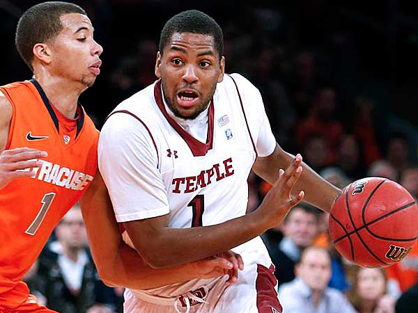Temple´s Khalif Wyatt scored 33 points during Temple´s last game against Syracuse. (Jason DeCrow/AP)