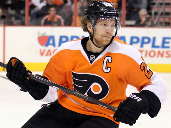 Flyers captain Claude Giroux. (Yong Kim/Staff Photographer)