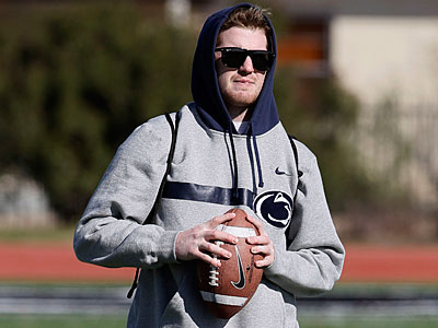 Penn State quarterback Matt McGloin warms up at a practice in Dallas. (Brandon Wade/AP Photo)
