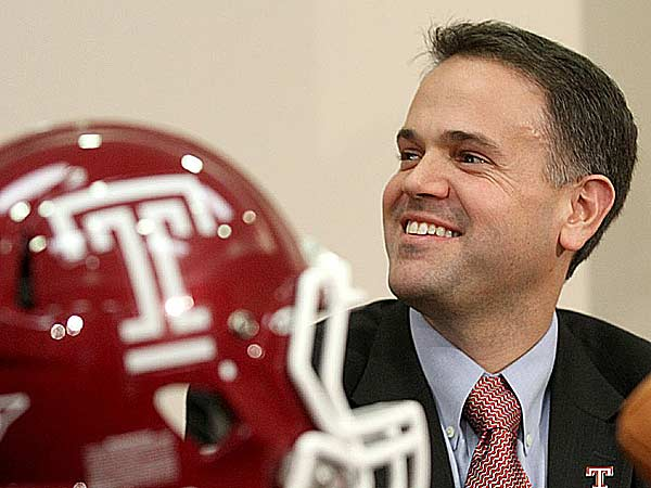Temple University officially announced that Matt Rhule, an assistant coach with the New York Giants and the former offensive coordinator with Temple, will be the next head football coach on Monday Dec. 17, 2012. (Charles Fox/Staff Photographer)