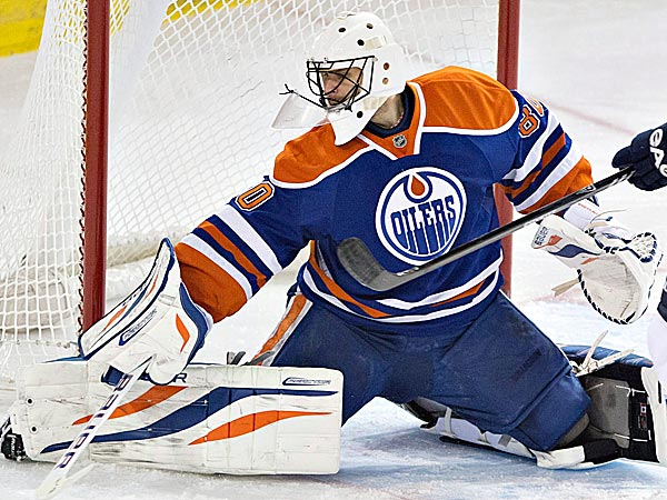 Oilers goalie Ilya Bryzgalov. (Jason Franson/The Canadian Press/AP)