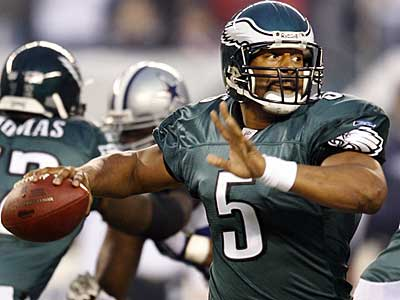 Donovan McNabb and the Eagles would have to win three road games in the playoffs to reach the Super Bowl. (Yong Kim / Staff Photographer)