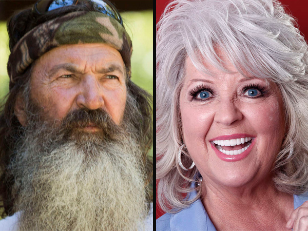 "Phil Robertson of ""Duck Dynasty"" was put on hiatus from A&E before they reversed their decision, while Paula Deen was dropped by Food Network after admitting to using racial slurs."