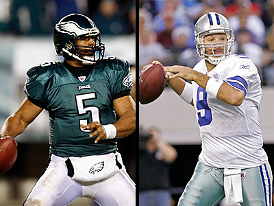 Donovan McNabb will lead the Eagles into Dallas on Sunday with the NFC East title and a first-round bye on the line. (AP PHOTOS)