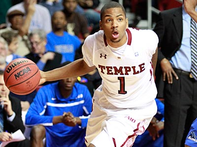 Khalif Wyatt hit a crucial three-pointer for Temple on Friday night in their win over Delaware. (David Swanson/Staff file photo)