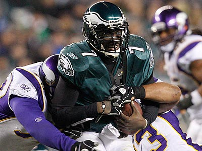 The Vikings had a great deal of success blitzing Michael Vick on Dec. 28. (David Maialetti/Staff Photographer)