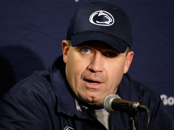 Penn State head coach Bill O´Brien talks during a news conference after an NCAA college football game against Wisconsin Saturday, Nov. 30, 2013, in Madison, Wis. Penn State won 31-24. (Morry Gash/AP file)