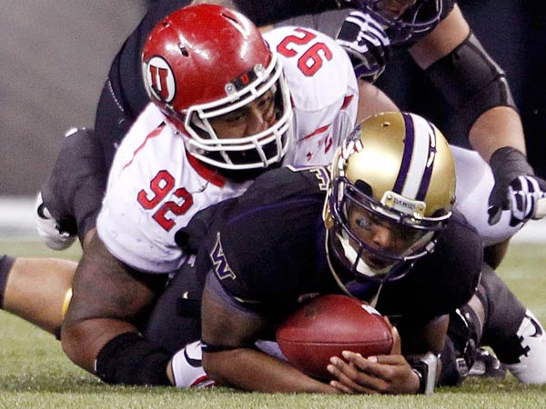 Utah&acute;s Star Lotulelei is a big-bodied defender who could be the anchor of a 3-4 defense or a run-stopping tackle in a 4-3. (Elaine Thompson/AP)<br />