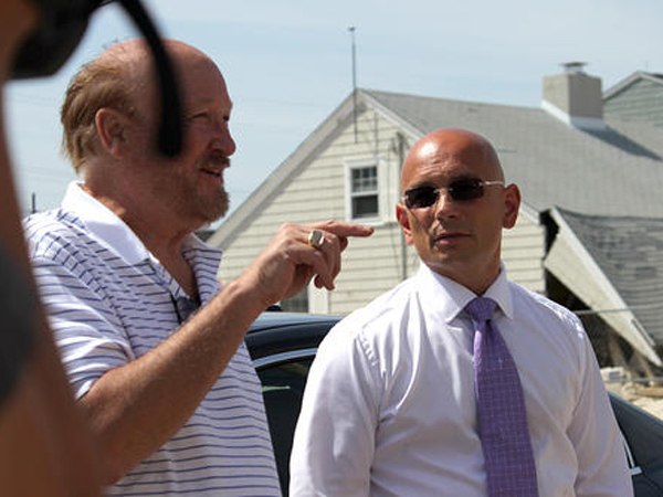 "Ray Braun Sr., owner of the Thunderbird Motel in Seaside Heights, speaks to ""Hotel Impossible"" host Anthony Melchiorri before tensions flared on set, causing Melchiorri to leave."