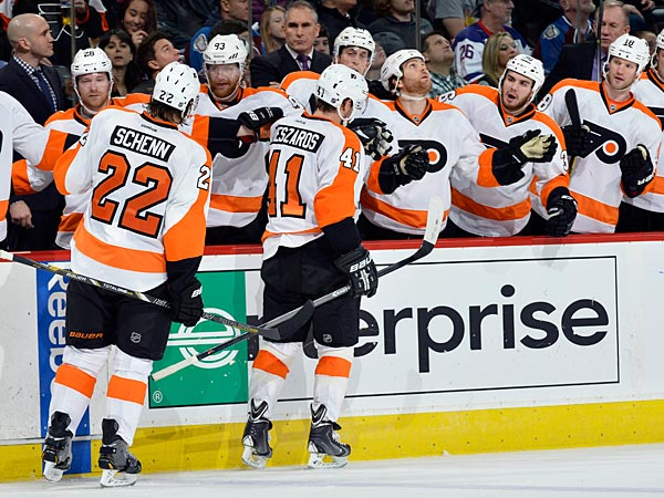 The Flyers have been bumped by the Eagles. (AP Photo/Jack Dempsey)