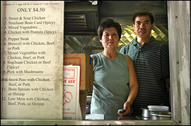Bi Pang and her husband, Tsz Pong, preside at Yue Kee, which has occupied its spot at 38th and Walnut Streets for more than 20 years.