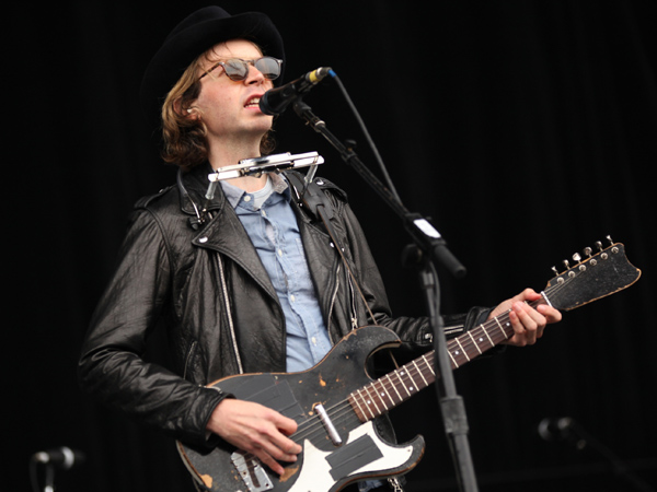 Musician Beck performs onstage during Day 1 of 2012 Outside Lands Music Festival held at Golden Gate Park on August 10, 2012 in San Francisco, California.  (Photo by Trixie Textor/Getty Images)